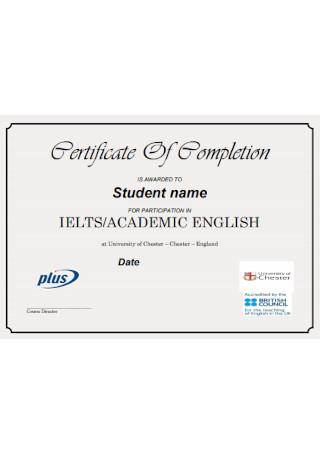 Academic English Certificate