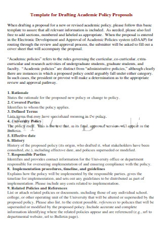 Academic Policy Proposals