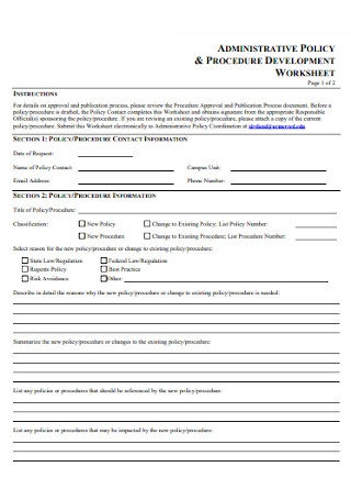 Administrative Policy and Procedure