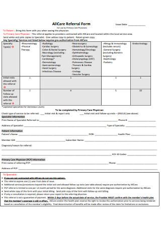AllCare Referral Form