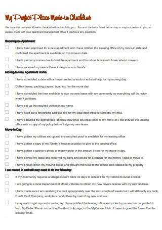 Apartment Move in Checklist1