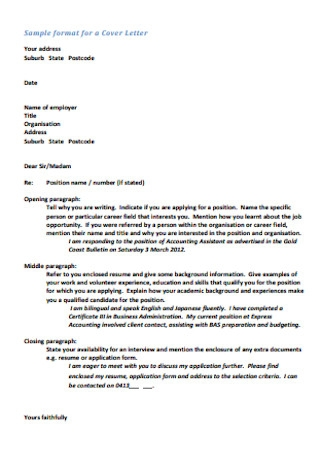 Application and Cover Letter
