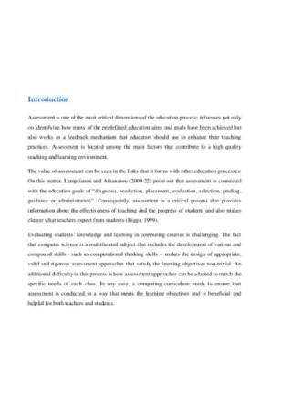 Assesment Literature Review