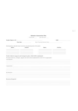 BIP Sample Template
