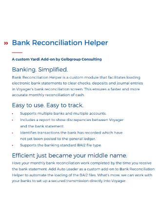 Bank Reconciliation Helper