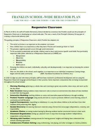 Behavior Plan Draft