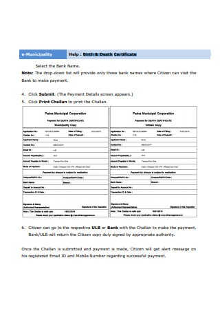 Birth Death Certificate