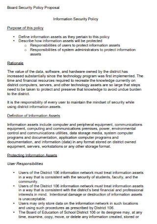 Board Security Policy Proposal