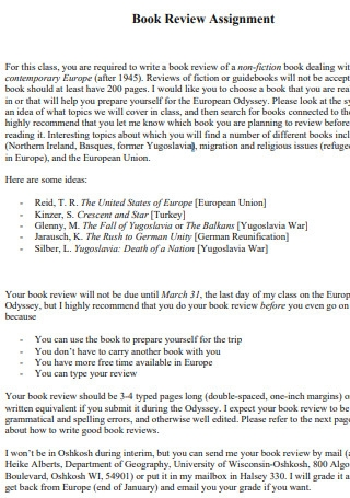 Book Review Assignment