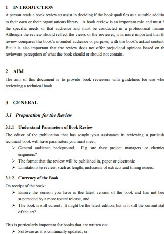 Book Review Guide Template