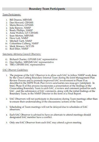 Boundary Team Charter