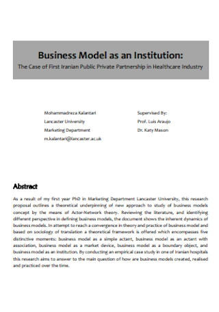 Business Model as an Institution