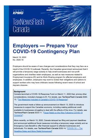 COVID 19 Contingency Plan