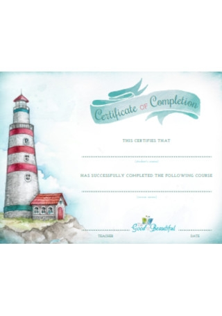 Certificates of Completion Format