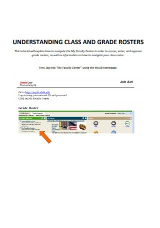 Class Roster Guide
