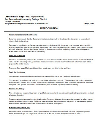 College Construction Proposal