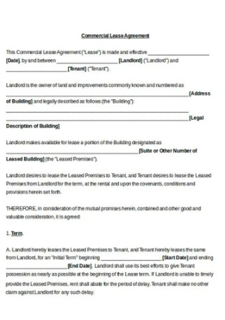 Commercial Rental Lease Agreement