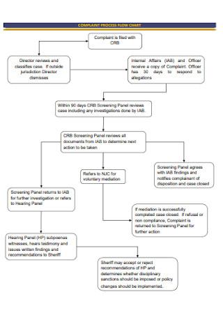 Complaint Process Flow Chart