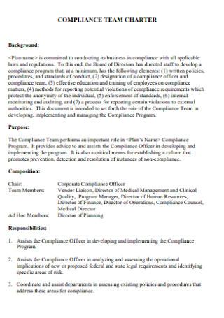 Compliance Team Charter