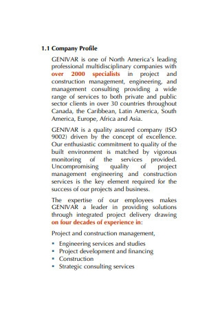 Consultancy Services Proposal
