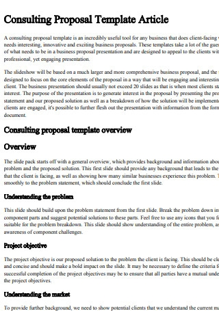 Consulting Proposal Template Article