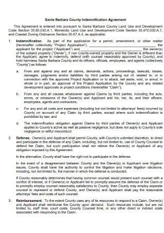 County Indemnification Agreement