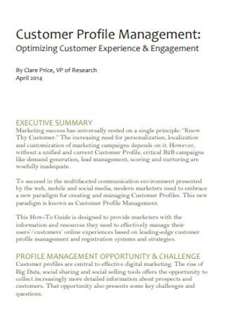 Customer Profile Management
