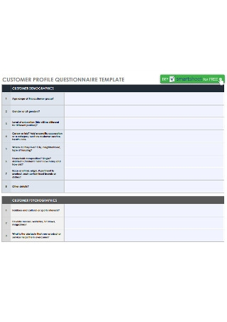 Customer Profile Questionnaire
