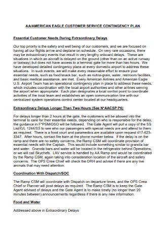 Customer Service Contingency Plan