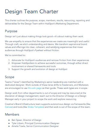 Design Team Charter