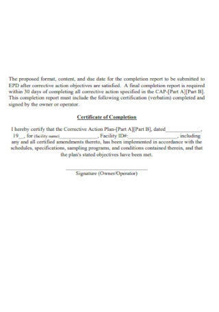 Downloadable Certificate of Completion
