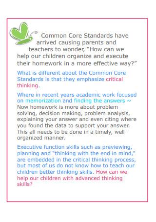 Easy Daily Homework Planner