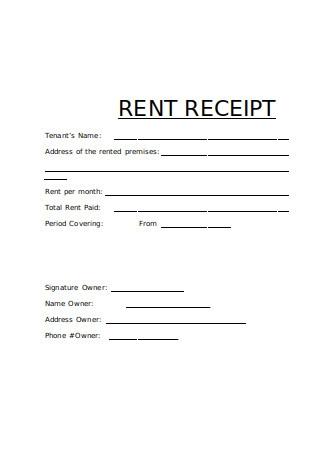 Editable Tenant Rent Receipt
