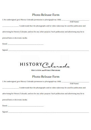 Education Photo Release Form
