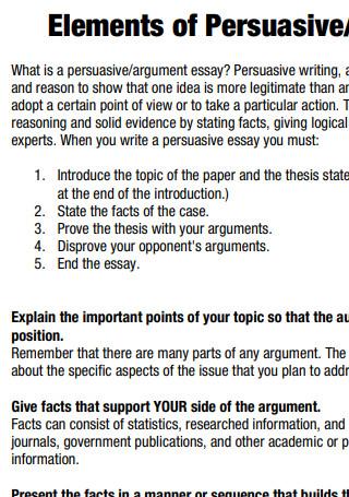Elements of Persuasive