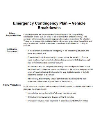 Emergency Contingency Plan
