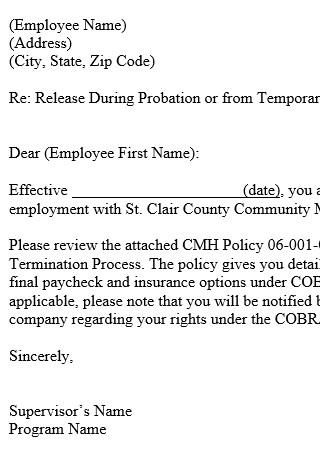 Employement Release Letter