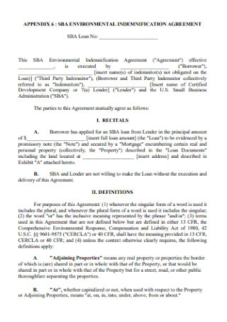 Environmental Indemnification Agreement