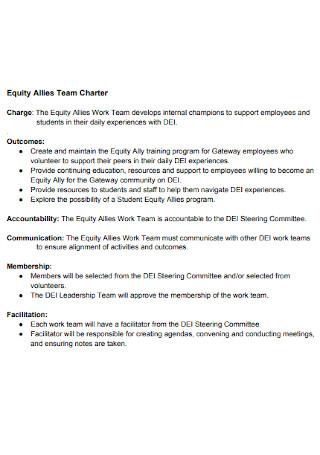 Equity Allies Team Charter