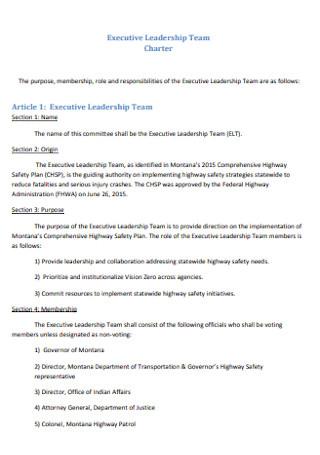 Executive Leadership Team Charter