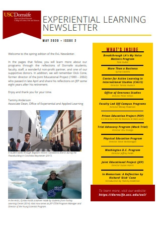 Experiential Learning Newsletter