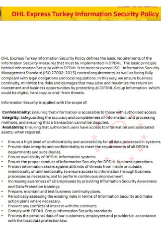 Express Information Security Policy