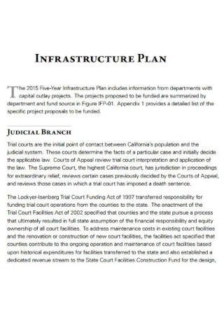 Five Year Infrastructure Plan