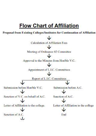 Flow Chart of Affiliation