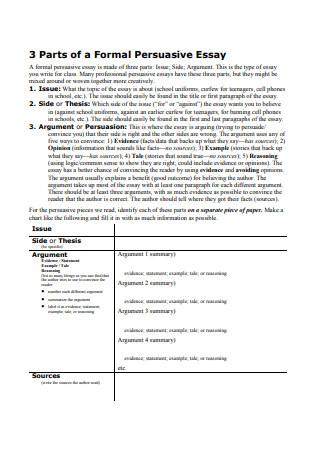 Formal Persuasive Essay