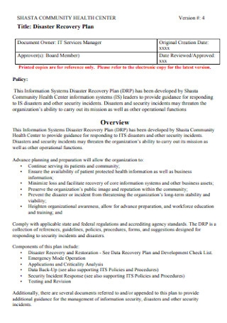 Foundation Disaster Recovery Plan