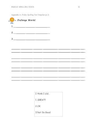 Friday Spelling Test