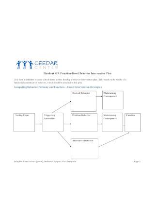 Function Based Behavior Intervention Plan