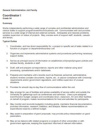 General Administration Job Discription