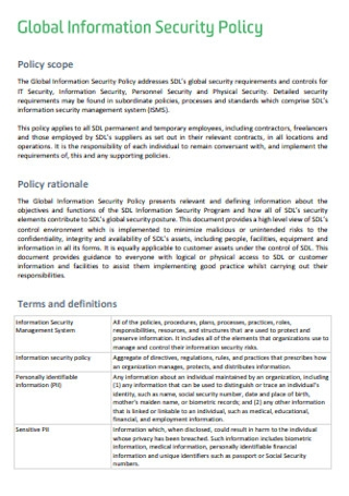 Global Information Security Policy